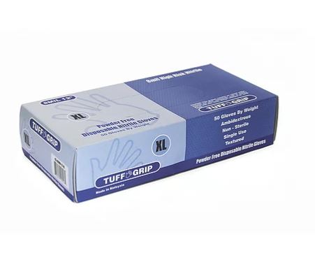Tuff Grip 43-80WN Disposable Industrial Nitrile Gloves