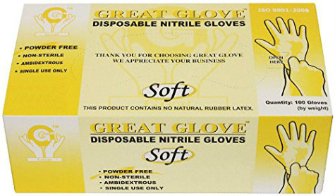 Great Gloves are Powder Free Nitrile Disposable