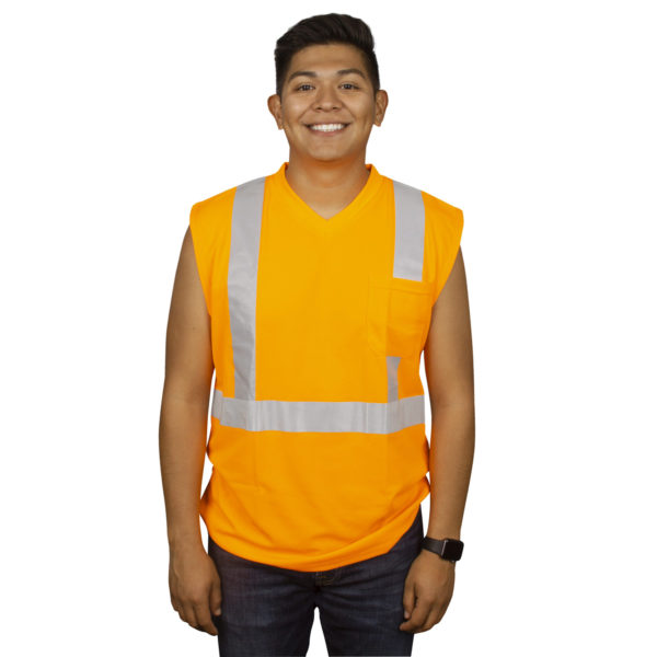 HIVIS CLASS 2 T SHIRT V420 SLEEVE-LESS