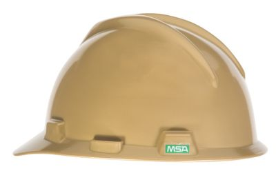 MSA V GARD Gold Hard Hats Cap