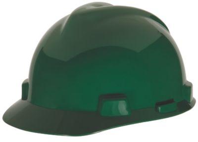 MSA V-Gard Green Hard Hats