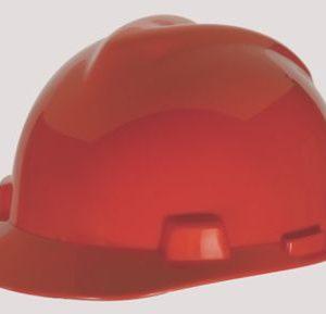 MSA V GARD Red Hard Hats