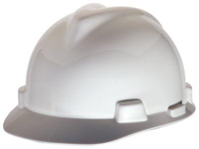 MSA V-Gard White Hard Hats