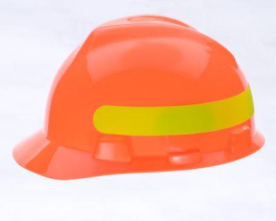 HiVis MSA V-Gard Orange Hard Hats