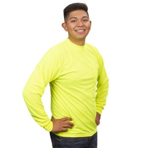 V141-Lime-long sleeve shirts