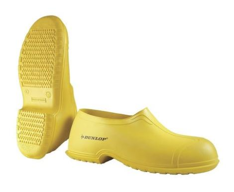 Yellow Dunlop Overshoes