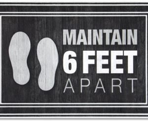 Maintain 6 feet apart charcoal mats