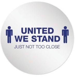 United We Stand Six Feet Apart